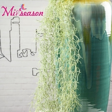 "Long 120cm/47.24"" Artificial Withered Grass Fake Crushed Reed Hanging Plant Vine Home Wedding Wall Decor For Festival"