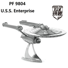 3D Laser cutting For U.S.S. Enterprise DIY Metallic Models puzzle toys For Star Trek Model Building Kits Nano Puzzle Toys