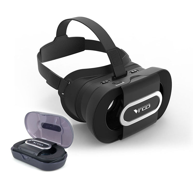 RITECH VRGO portable Foldable VR Glasses 3D Helmet Virtual Reality 3D Game For 4.7-6.0 Smartphone+Bluetooth Gamepad