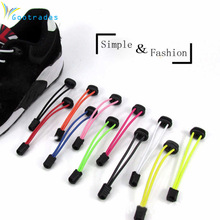 Sports Fitness Lock lace 5 colors a pair Of Locking Shoe Laces Elastic Sneaker Shoelaces Shoestrings Running/Jogging/Triathlon