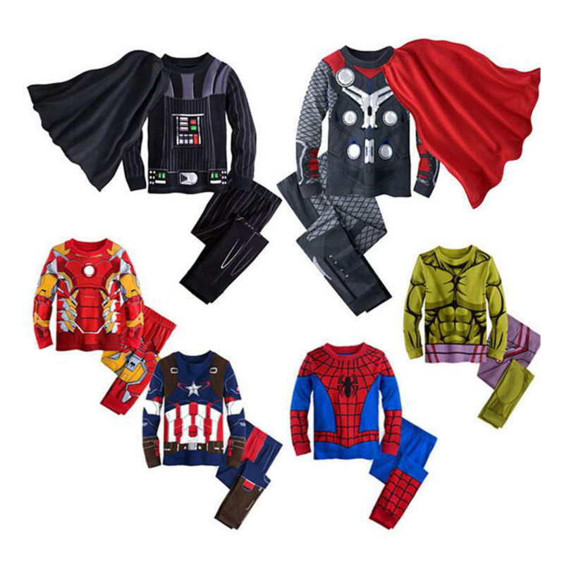 Winter Boys Superhero Homewear Set Ironman Spiderman Thor Pattern Hooded Sweatshirt+Pants Childrens Pajamas Suit Kids Clothes<br><br>Aliexpress