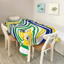 New Nordic rural Tablecloth Vector Cartoon Geometry Pattern Home decor Table Cloth Dining Coffee Restaurant Cloth Cover(China)