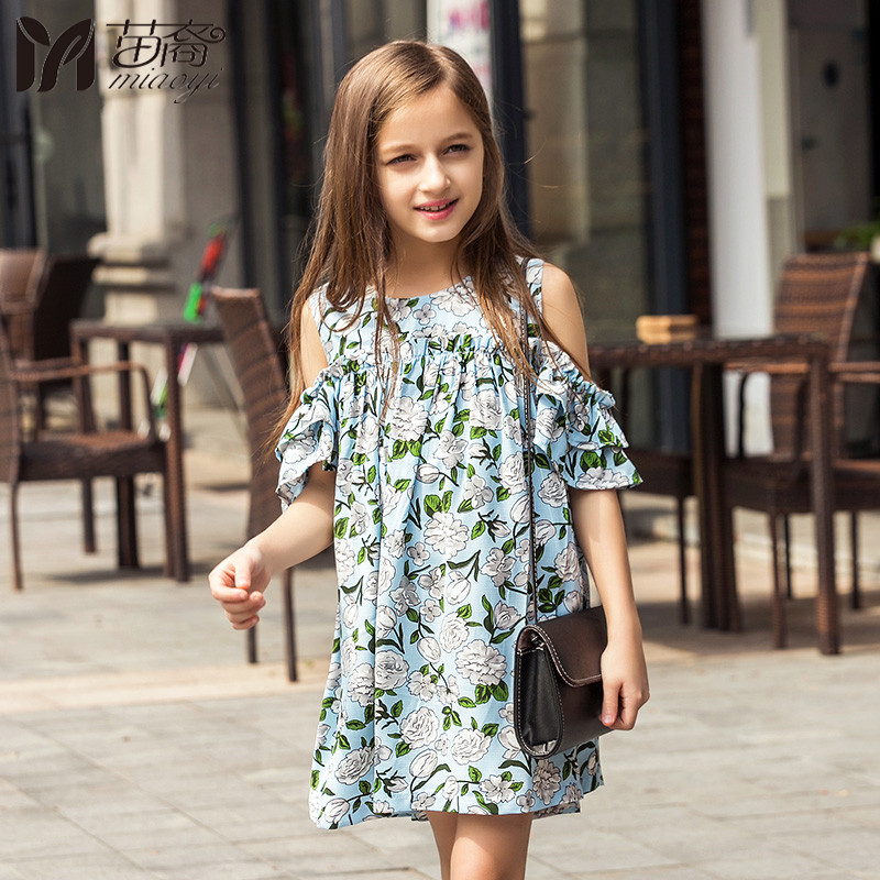Miaoyi New Chiffon Dress Girls Dresses 2018 Spring And Summer Childrens Clothes Lovely  Princess Girls Dresses Holiday Party<br>