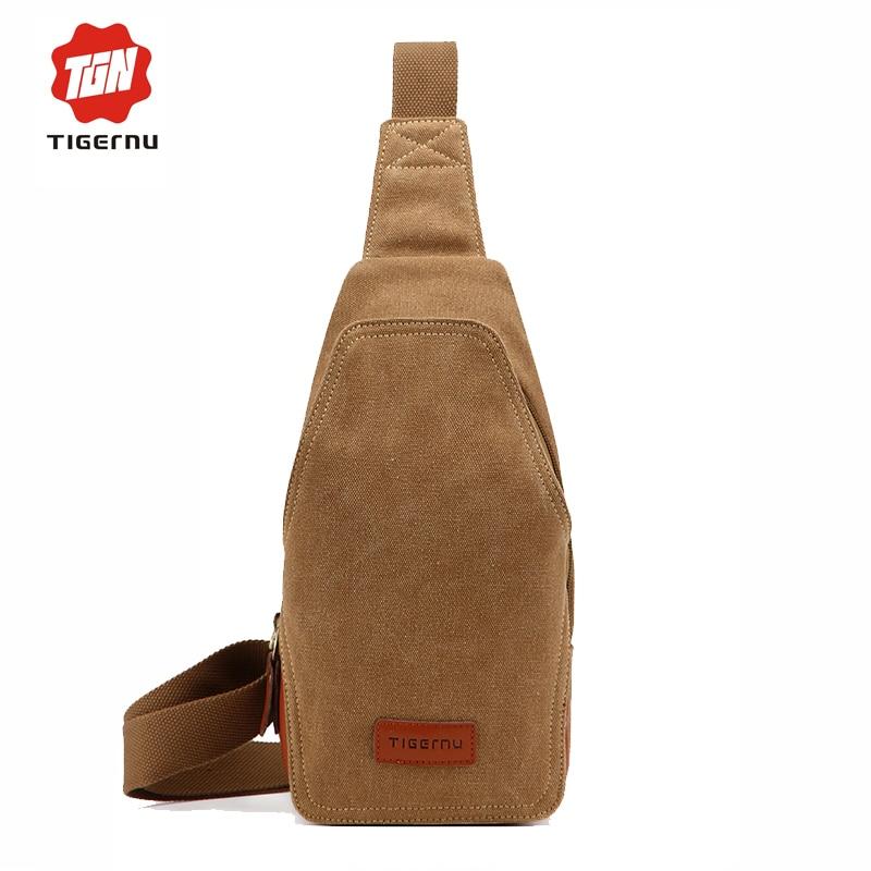 Tigernu brand canvas crossbody bag men laptop bag case small women leisure mini iapd bag<br><br>Aliexpress