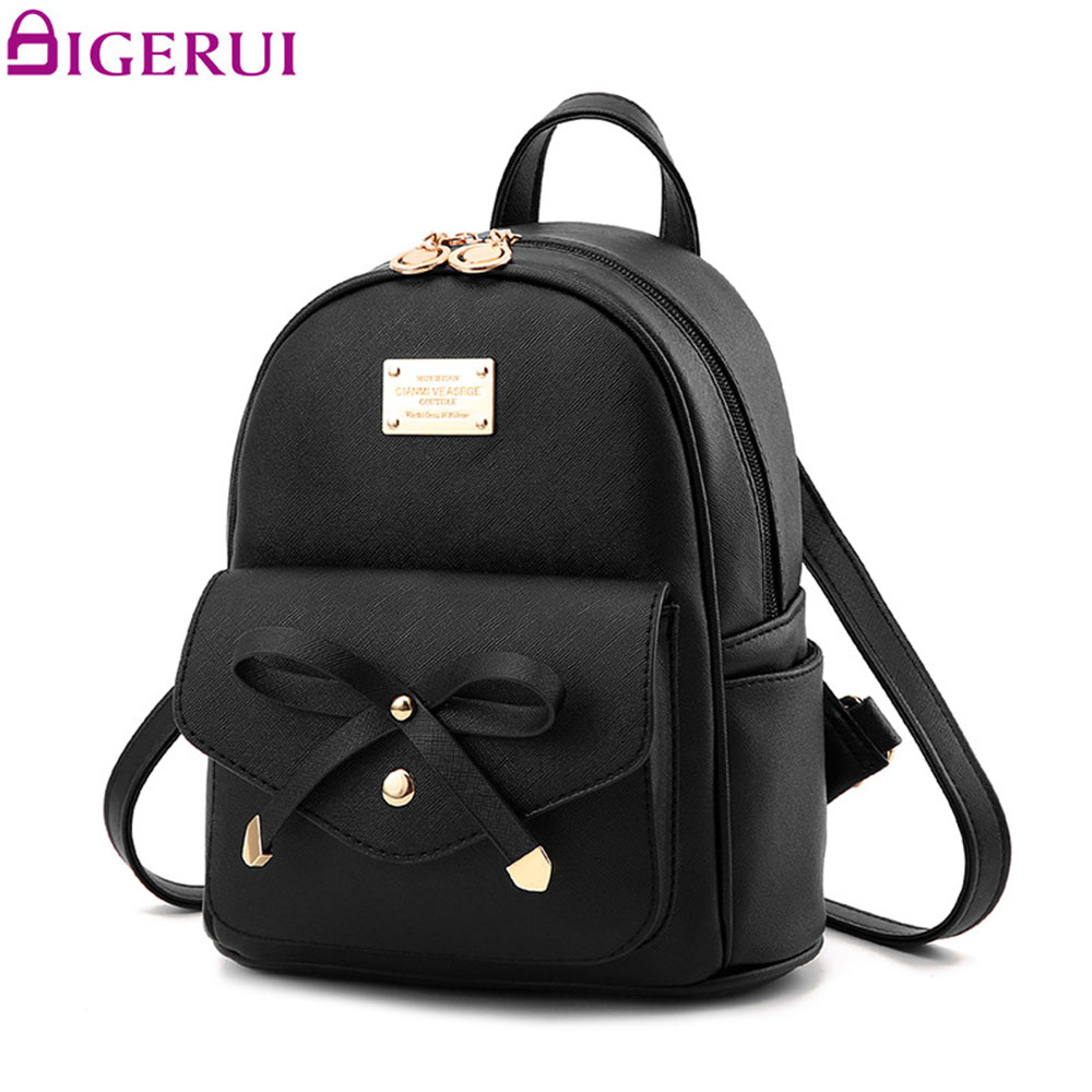 DIGERUI New Women Backpack PU Leather Lady Fashion Backbags Cute School Bags Backpack For Teenager Girls Packbag A1634(China)
