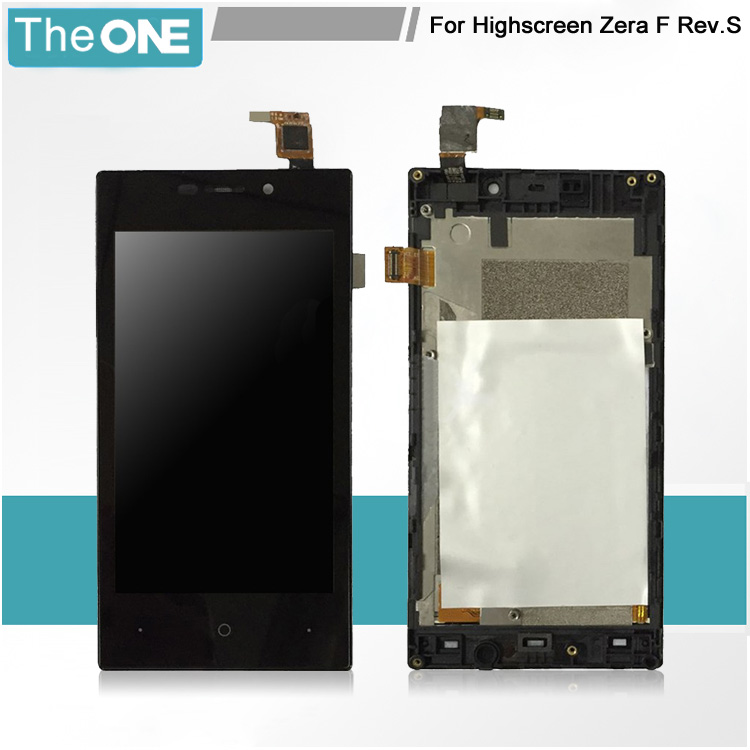 5pcs For Highscreen Zera F Rev.S 4.0 Touch Screen Digitizer LCD Display Glass Panel Sensor Screen Replacement<br>