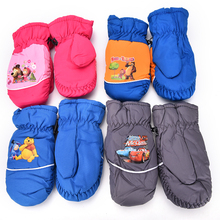 1 Pair High Quality Windproof Waterproof Children Boy Girl Winter Warm Mittens Breathable Kids Ski Snowboard Gloves Hot Sale
