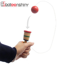Wooden Toy Coordination Game Sword Juggling Ball Skills Wooden Skill Educational Toy For Children(China)