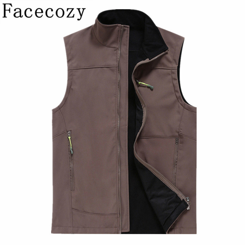 Facecozy Outdoor Fishing&amp;Hunting Vest Men Fleece Warm Climbing&amp;Skiing Vests Male Winter&amp;Autumn Breathable Hiking&amp;Camping Vest<br><br>Aliexpress