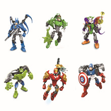 2017 new products Super heroes Avengers Iron Man Hulk Captain America Building Blocks Diy bricks toys assembled toys kids toys