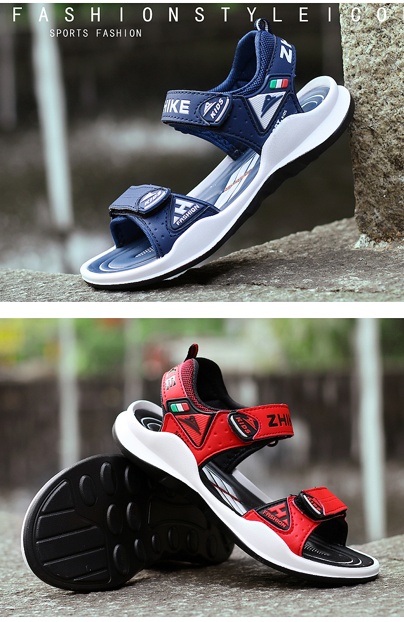 Children's Shoes Summer Open Toe Boys Sandals Sports 11 Non-slip 12 Primary School Students 15 Years Old Children's Beach Shoes 12 Online shopping Bangladesh