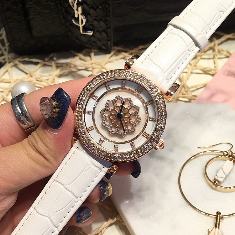 Famous Luxury Women Watch Rhinostone Female Clock Quartz Watch Ladies Rotatable Dial Crystal Wristwatch Relogio Feminino OP001<br><br>Aliexpress