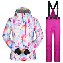 2017 New Women Snow Ski Suit Windproof Waterproof Breathable Women's Snowboard Colorful Clothes Winter Jacket And Pants Hiking(China)