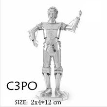 Star Wars 3D Metal Puzzles DIY Model Building Toy C-3PO Robot Model Toys Children Gift