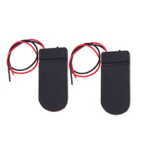 High Quality 2Pcs 6V Battery Holder 2x 2032 Button Cell Case ON/OFF Switch 6 Volt Output Storage Boxes Home Storage Box BS
