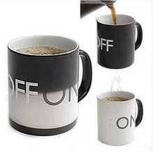 Hot Sale OFF-ON Changing Mug Magical Chameleon Coffee Cup Temperature Sensing Novelty Gift 330ml