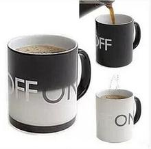 Hot Sale OFF-ON Changing Mug Magical Chameleon Coffee Cup Temperature Sensing Novelty Gift 330ml(China)