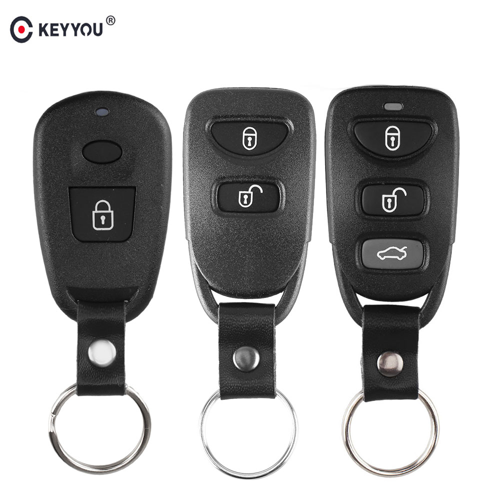 KEYYOU New Key Shell 2/3/4 Buttons For Hyundai Kia Carens Fob 2+1/3+1 Buttons Remote Control Key Cover Fob Case Keyless Entry(China)