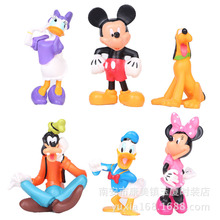 1set(6pcs) 7~9cm MICKEY Minnie Donald Duck Cartoon Action Figure Childre's Toy Free shipping