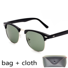 Brand Style Club Sunglasses Men Women Designer Summer Sun Half Frame Glasses original mirror lens bag case box with package