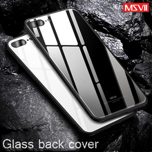 Tempered Glass Back Cover + Soft TPU Silicone Frame Case for iPhone 7 8 for iPhone X case Hard Cover for iphone 7 8 plus case(China)