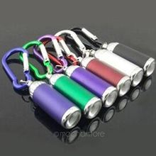 Mini Flashilight torch Carabiner Keychain Hook Lamp Christmas Gifts LED Ultra Bright Light Flashlight Torch(China)