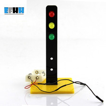 10Pcs Traffic Light Small Technology Production Signal Lights Model Gags Practical Jokes(China)