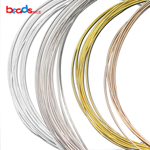 Buy Beadsnice ID26883 diy jewelry silver wire 22ga round solid 925 sterling silver beading wire for $5.25 in AliExpress store
