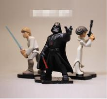 high quality Star Wars figure toys Darth Vader Luke Skywalker Princess Leia Figures Toy Model Doll for collection gifts 8-10cm(China)