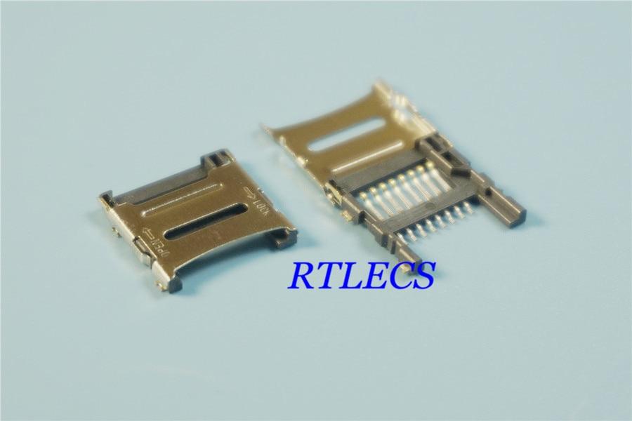100Pcs PUSH-PUSH Type SD Menory Card Solder Socket Connector PCB Mount