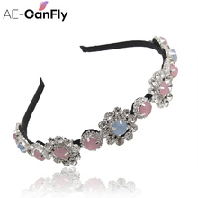 Rhinestone Flower Hairband Headband Alice Band Hair Accessories for Women Nice Gift 1G3001
