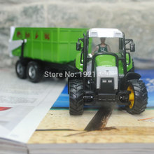JOYCITY 1/43 Scale Farm Vehicles Model Toys Vegetable Transportation Tractor with Tender Car Diecast Metal Model Toy New In Box