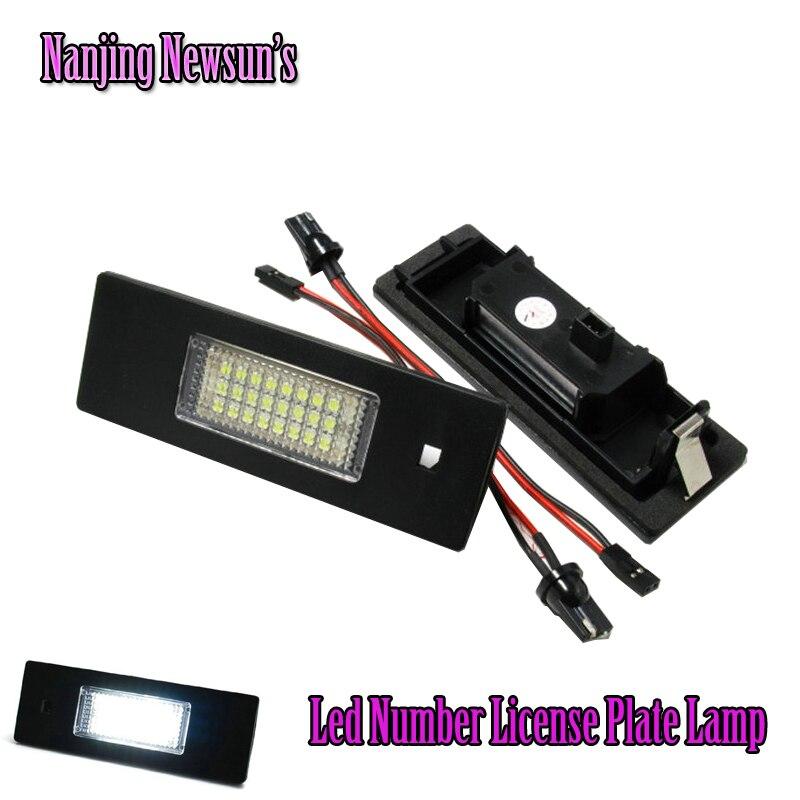 Hot Led License Plate Lamp Lights For Bmw E81 E87 E87N E85 Z4 E86 Mini R55 E63 E63N E64 M6 Plug&amp;Play Number License Light 12V<br><br>Aliexpress