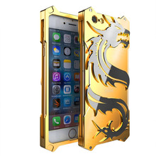 Zimon Original for Apple Iphone 6 6s Plus Case Aluminum Metal Armor Shockproof Frame for Iphone6 6plus Apple6 Dragon Phone Cover(China)