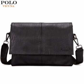 VICUNA POLO New Casual Black Leather Man Bag Famous Brand Envelope Bag Mens Messenger Bag Leisure Men's Crossbody Bag Handbags