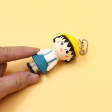 Cute Face Squishy Maruko Chan Girl Doll Phone Straps/Bags Charms Kids Toys 1PCS