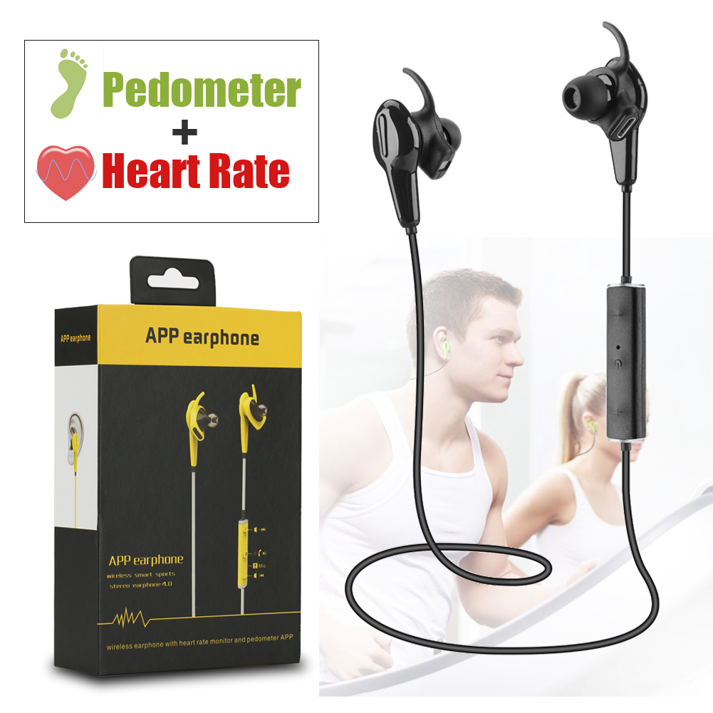 CSR8645 4.0 Bluetooth Stereo Headphone APP Earphone Heart Rate Monitor Pedometer Locate Trace Record Motion For Two Smart Phone(China (Mainland))