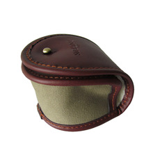 Tourbon Canvas Fishing Storage Reel Case Classic Design Fly Fishing Game Pouch