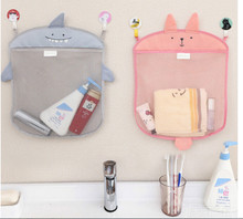 35.5*40.5cm Baby Bathroom Mesh Bag Child Bath Toy Bag Net Cartoon Animal Shape Waterproof Cloth Toy Baskets Stoge Bags