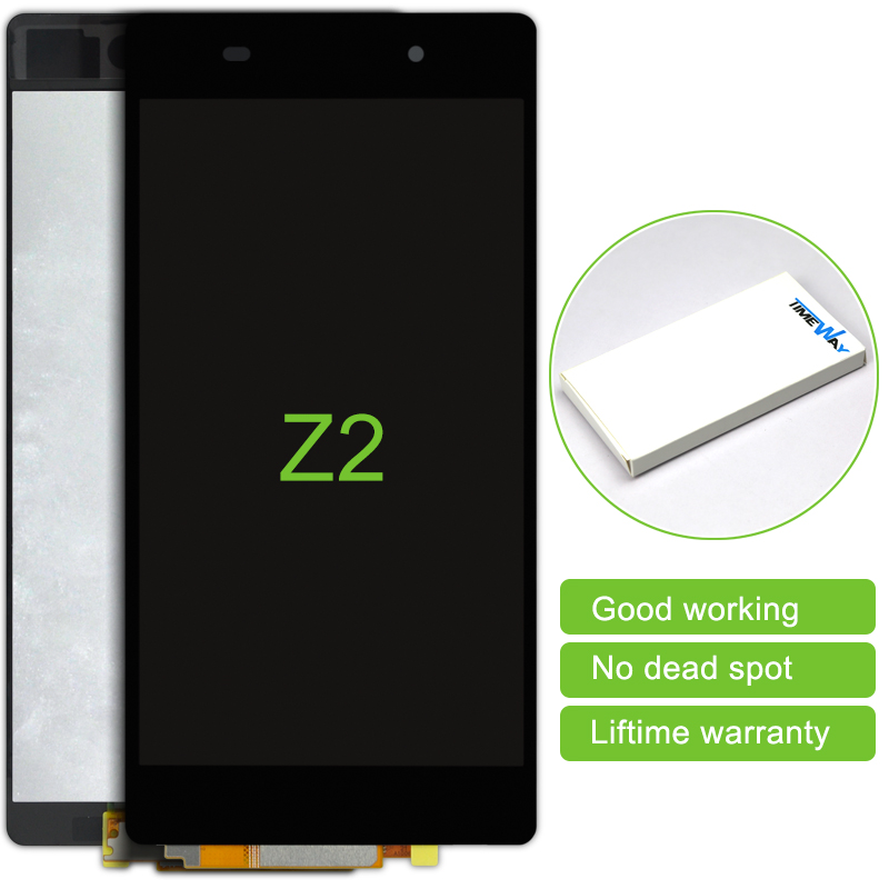 Top Fashion Rushed 2 Pcs Best Quality Lcd Display Touch Screen Digitizer Assembly For Sony Xperia Z2 L50W D6503 3G version<br><br>Aliexpress