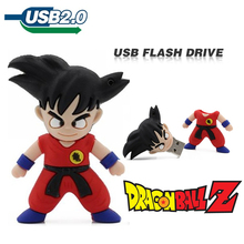 Usb flash drive 4GB 8GB 16GB 32GB Newest pen drive pendrive DRAGON BALL II Son Goku USB 2.0 Memory Stick U disk Cartoon Hot Sale