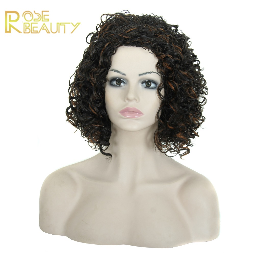 Afro kinky curly synthetic hair wig for black woman Harajuku Cosplay Wig Party Women heat resistant cheap kinky curly full wig<br><br>Aliexpress