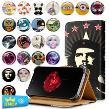 Leather Printed Case For ZTE Geek 2 2 Lte 2 pro V5 Blade GF3 Case Universal Stand Flip Case For ZTE Phone Cover Middle size(China)
