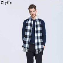 CLYTIE New 20 Colors Cashmere Men's tassel British winter scarves and autumn scarf men with colorful plaid SC2038 Soft
