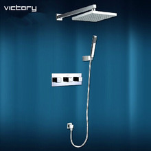 Buy concealed thermostatic shower sets thermostatic mixing valve bath shower mixer bath shower faucet set bathroom set for $318.25 in AliExpress store