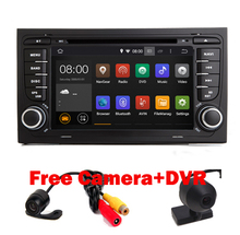"7"" Touch Screen Car DVD GPS for Audi A4 Android 5.1( 2002-2008) year with Wifi 3G GPS Bluetooth Radio RDS USB SD Free camera+Map"