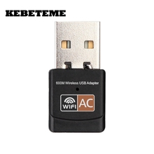 KEBETEME 2.4GHz 5GHz Mini Wireless Wifi Adapter PC WiFi adapter 600mbps USB WiFi antenna Dual Band computer Network Card(China)