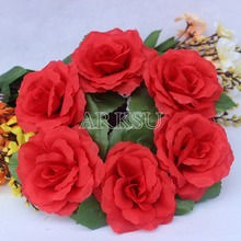 10Pcs/Lot 10cm Artificial Rose Flower Christmas candle ring decoration(China)