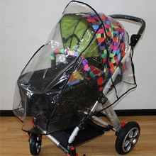 Baby Infant Stroller Rain Cover Stroller Accessories Universal Baby Pushchairs Wind Shield Waterproof Stroller Rain Cover(China)
