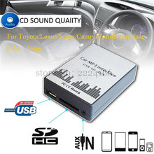 Lonleap USB SD AUX Car MP3 Music Player Adapter CD Changer for Toyota Lexus Scion Camry Corolla Interface 6+6Pin 5+7Pin